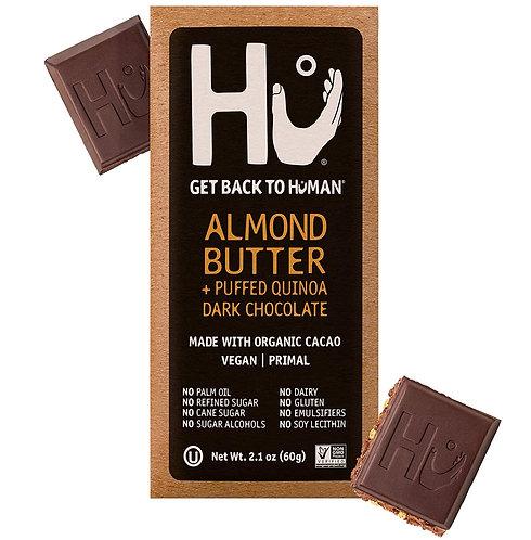Hu Vegan Chocolate Bars Almond Butter Puffed Quinoa Dark Chocolate 2.1