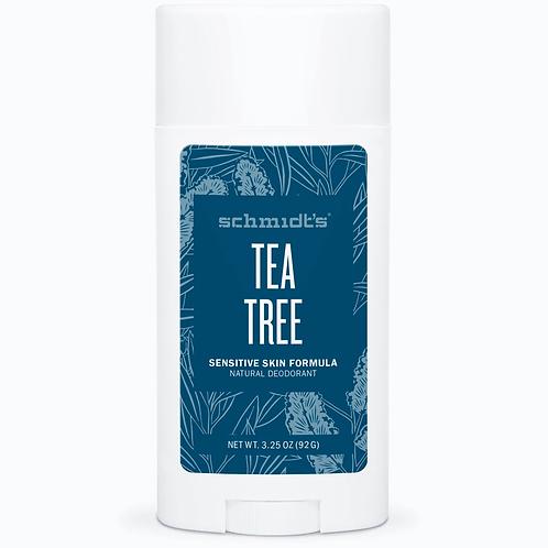 Schmidts Deodorant Stick Sensitive Tea Tree