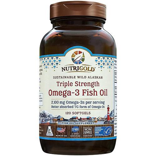 NutriGold, Triple Strength Omega-3 Fish Oil, 120sgls
