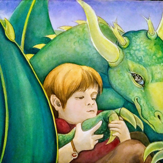 Little Boy With His Dragon