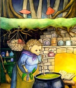 Mrs. Hedgehog Makes Dinner