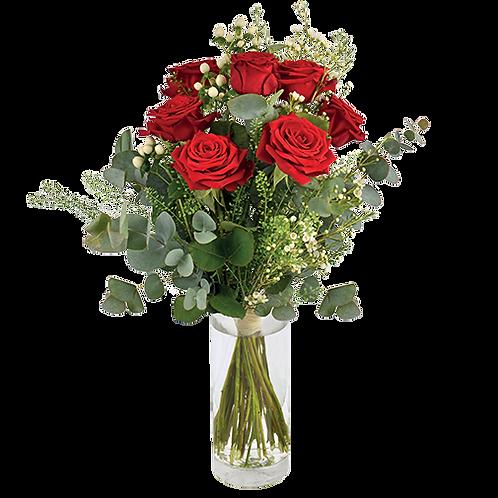 Bouquet de 7 roses (70 cm)