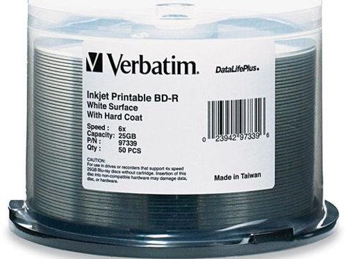 Verbatim 6x BD-R White Inkjet Printable - 50 Discs