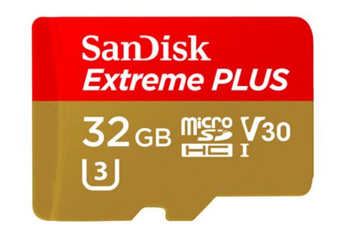 SanDisk 32 GB Extreme PLUS MicroSD