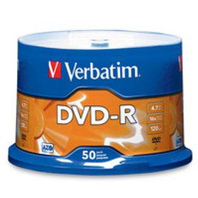 Verbatim 16x DVD-R Logo Branded - 50 Discs