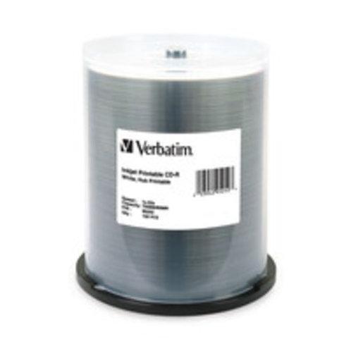 Verbatim 52x CD-R White Inkjet Printable - 100 Discs