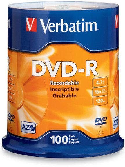 Verbatim 16x DVD-R Logo Branded - 100 Discs