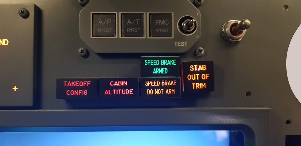 B737 MIP Vinly Annunciator  Stickers Kit