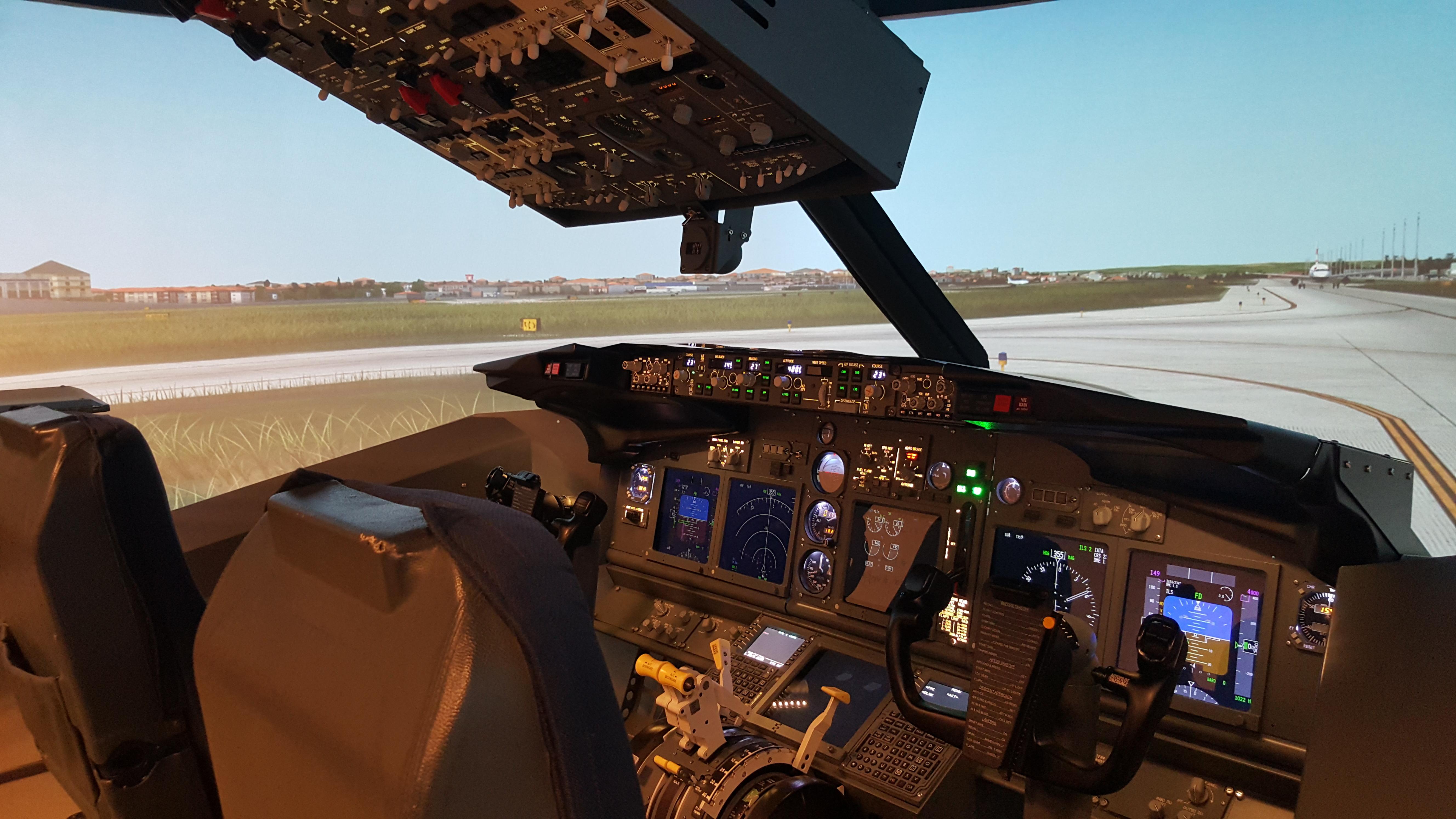 Boeing 737-800 uçuş simülatörü