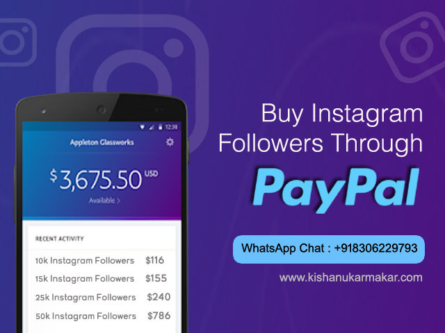 Buy Instagram Followers Through Paypal