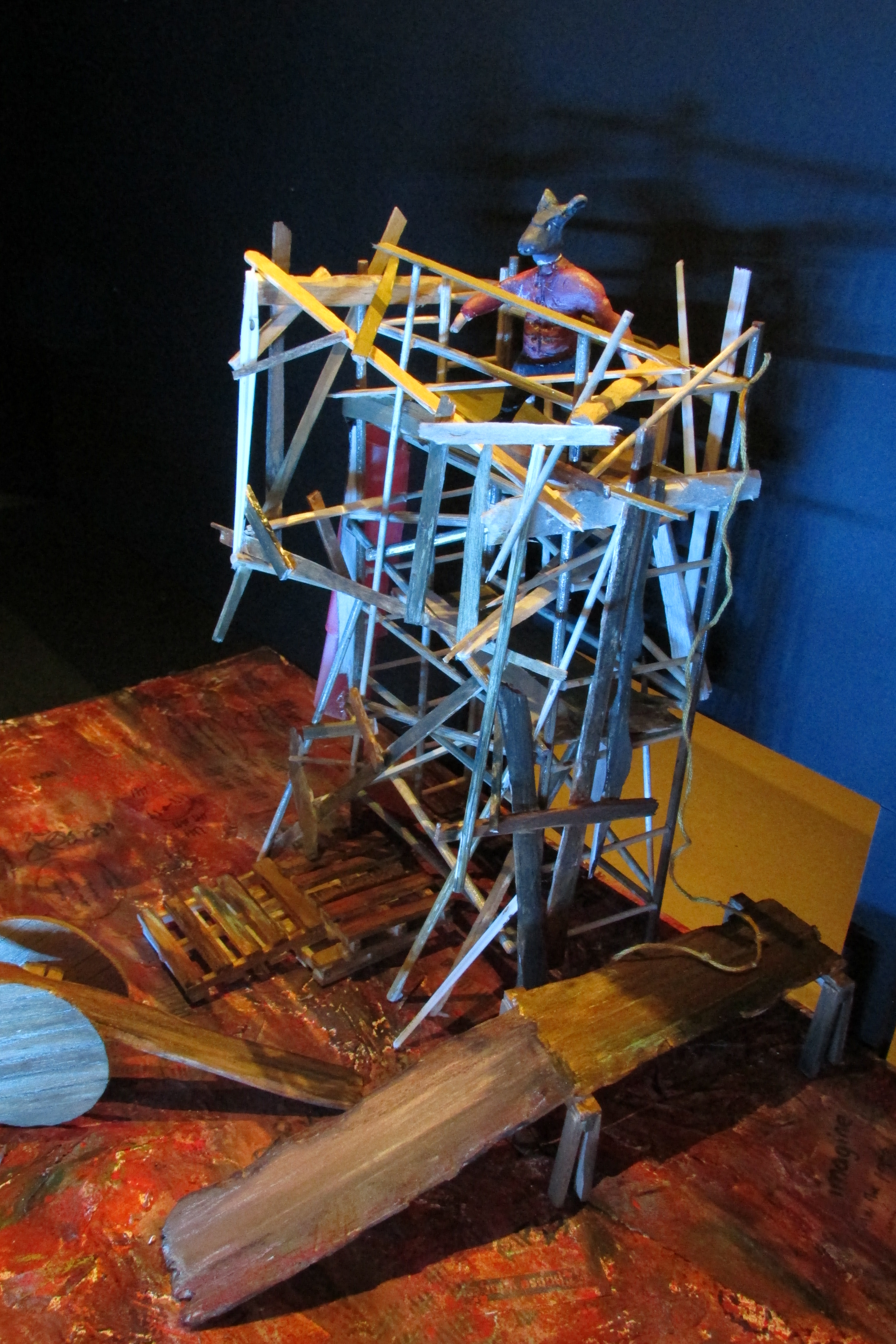 1:25 model of set