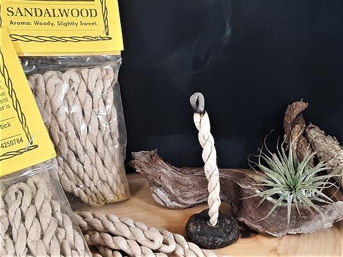 Himalayan Sandalwood Rope Incense - Divinity, Ceremony, Presence