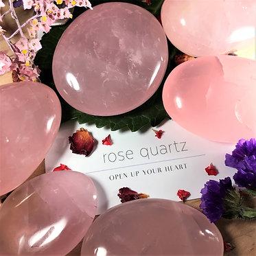 Rose Quartz Palm Stone - Self-Love & Emotional Healing