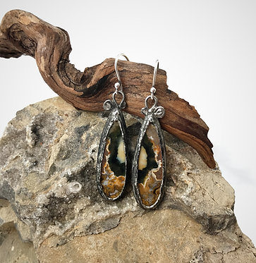 Ocean Jasper Earrings - Present Moment Awareness & Emotional Healing