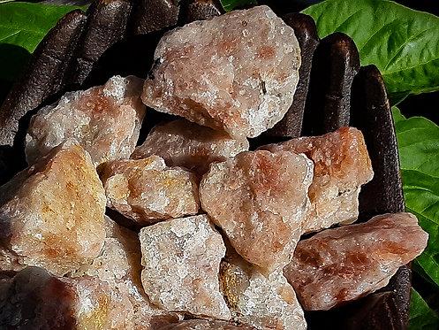 rough sunstone crystal, crystal for solar plexus chakra, divine masculine energy