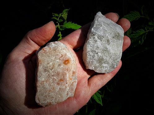 rough sunstone, rough moonstone, energy balancing crystal set, ritual kit