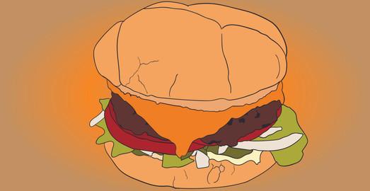 Cartoon Cheeseburger