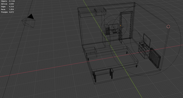 My room wireframes