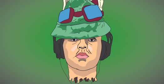 Cartoon portrait of comissioner