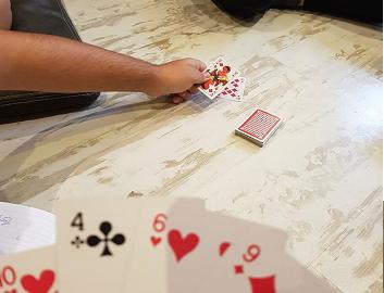 Card game gameplay POV