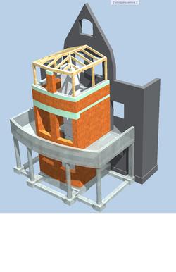 Anbau eines Treppenhauses