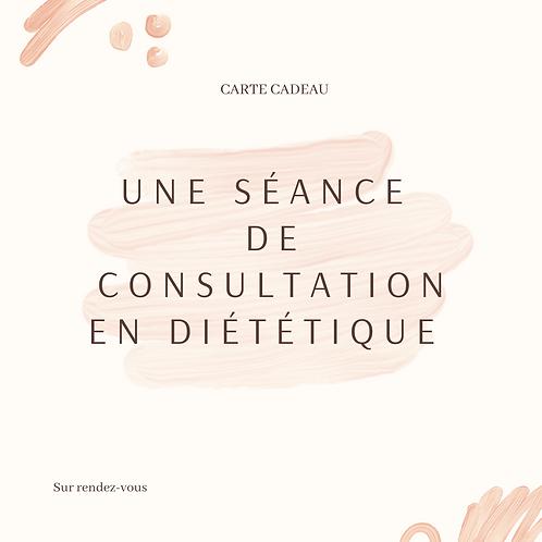 Carte Cadeau pour une séance individuelle de consultation en diététique