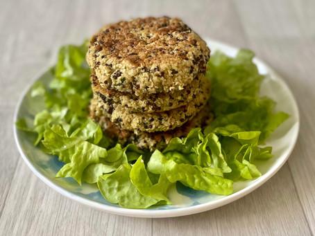 Galettes végétales au quinoa noir