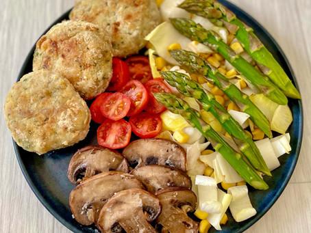 Boulettes de poulet légère et son assiette healthy