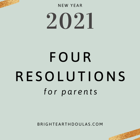 Four New Year's Resolutions for Parents