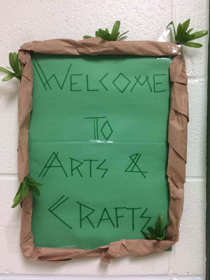 Arts and Crafts Sign