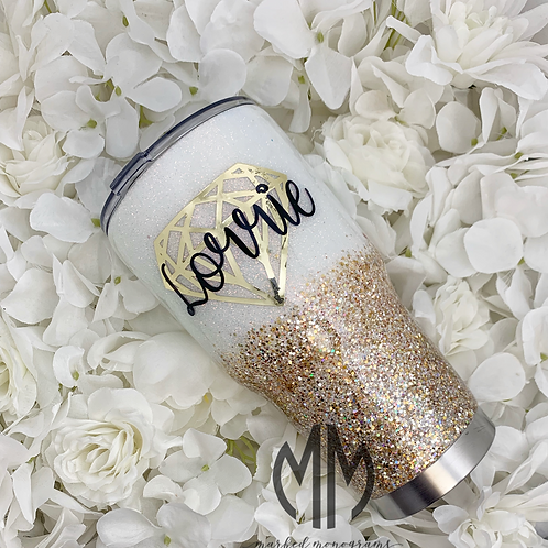 White and Champagne Tumbler