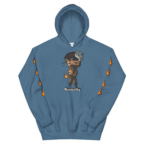 Chibicality Unisex Hoodie - Blue