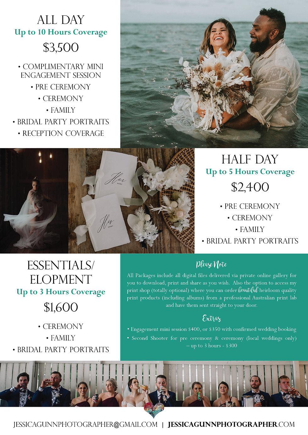 JGP Wedding Package Pricing Guide 21-222