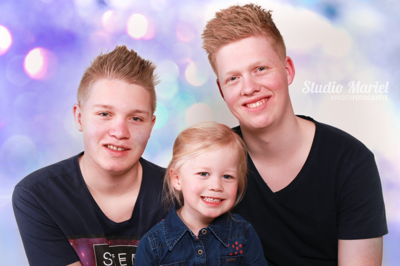 Portret gezin in kleur