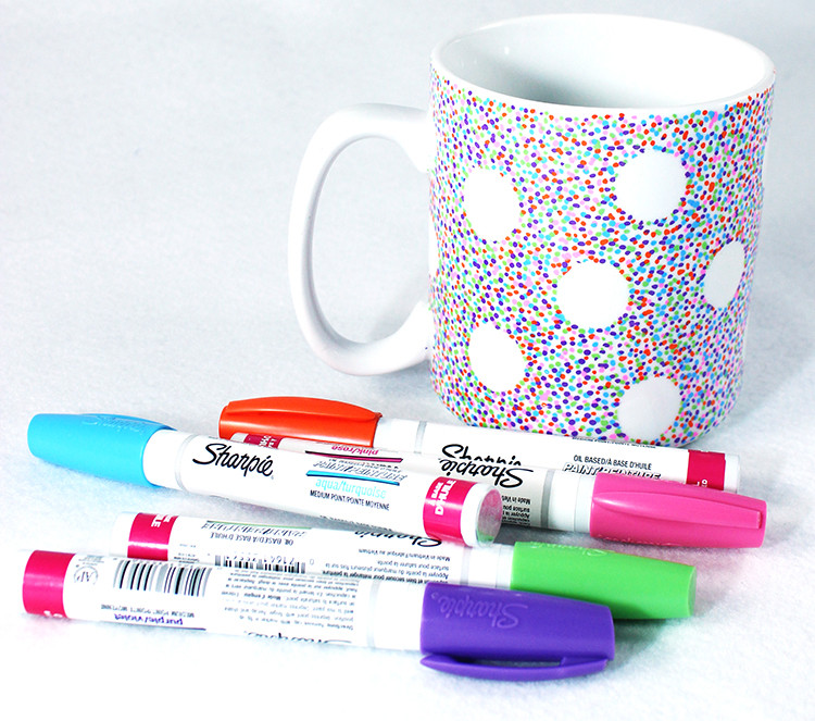 sharpie art, sharpie mug, diy mugs, diy arts and crafts, tie-dye,