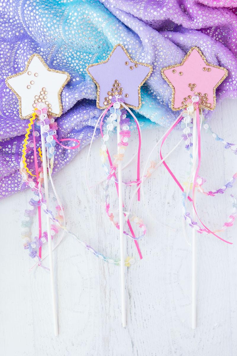 princess wands, diy fairy wands, ribbon wands, crafts for kids