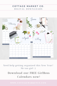 Free 2020 Calendar, Monday start, free printable calendar, girl boss, lady boss, women office calendar, mom calendar, digital download