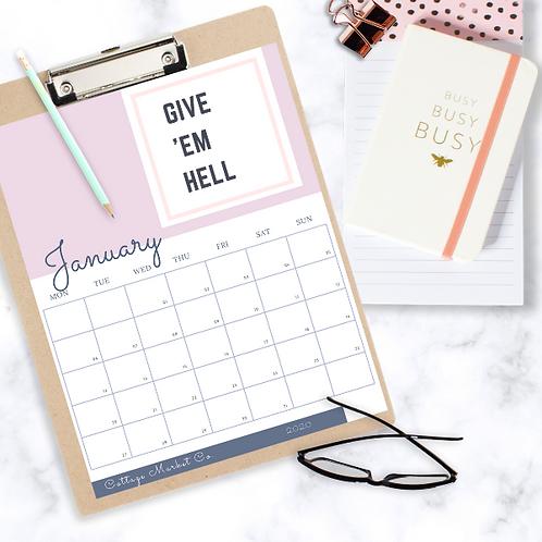 Monday Start Quote Calendar & BONUS To-Do List