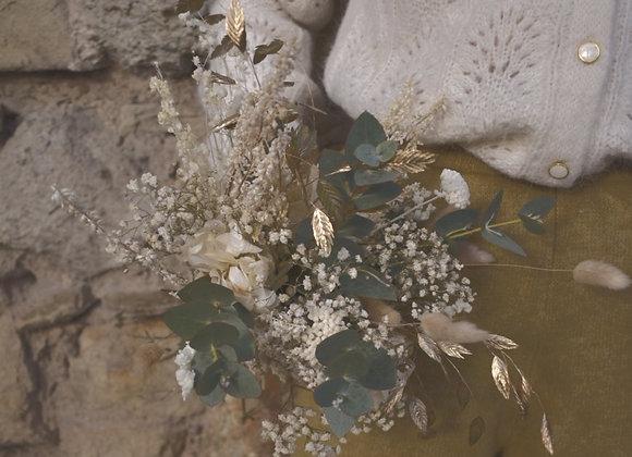 bouquets de fleurs séchées blanc