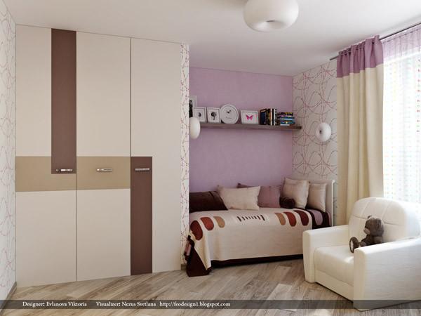 ห้องนอนเด็กสีม่วงสดใส สว่าง ปลอดโปร่ง3.jpg