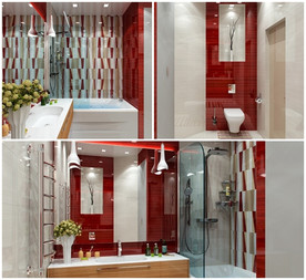 แซ่บ! ห้องน้ำสีแดง สวยล้ำ สไตล์โมเดิร์น