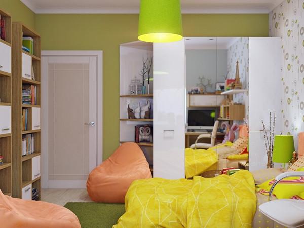 ห้องนอนเด็กสีแจ่ม ๆ น่ารักสดใสออปชั่นครบ4.jpg