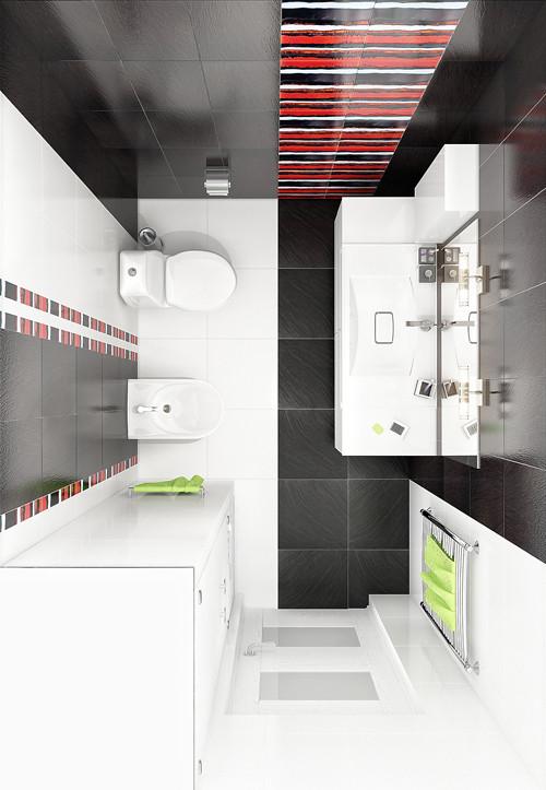 แจ่มแจ๋ว! ห้องน้ำเล็ก ๆ สีดำ สำหรับวัยรุ่น5.jpg