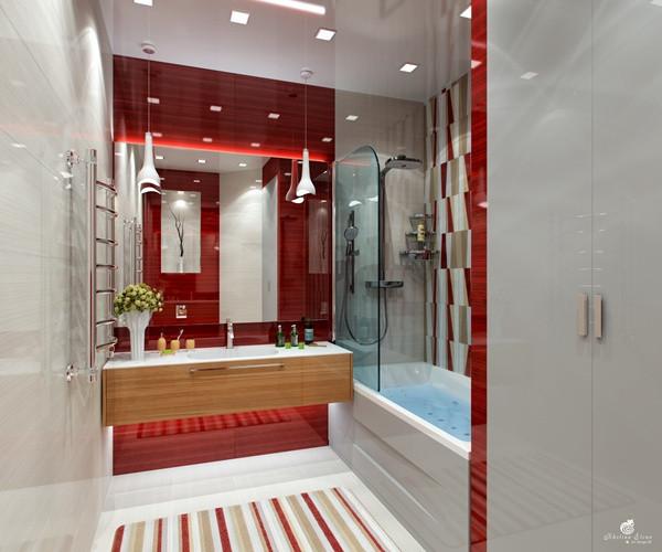 แซ่บ! ห้องน้ำสีแดง สวยล้ำ สไตล์โมเดิร์น2.jpg