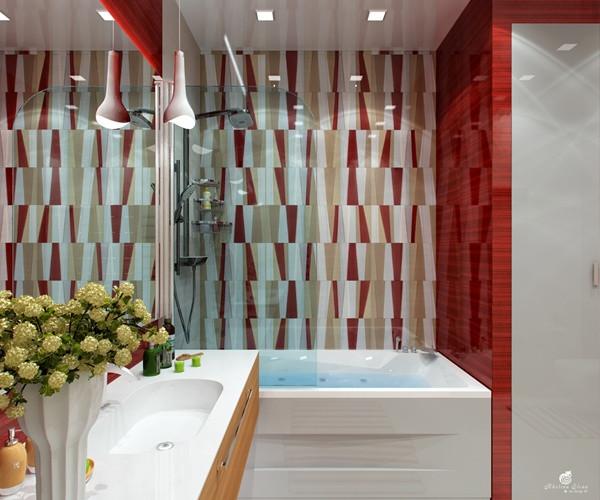 แซ่บ! ห้องน้ำสีแดง สวยล้ำ สไตล์โมเดิร์น4.jpg