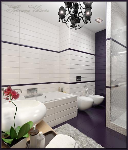 เรียบแต่เก๋ ! ห้องน้ำสีม่วง ขาว สุดชิค3.jpg