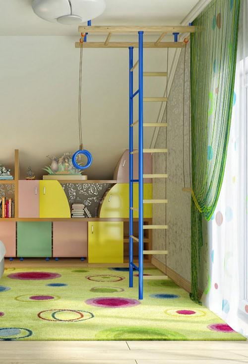 แบบห้องนอนเด็กสีสดใส กับผนังลายท้องฟ้า5.jpg