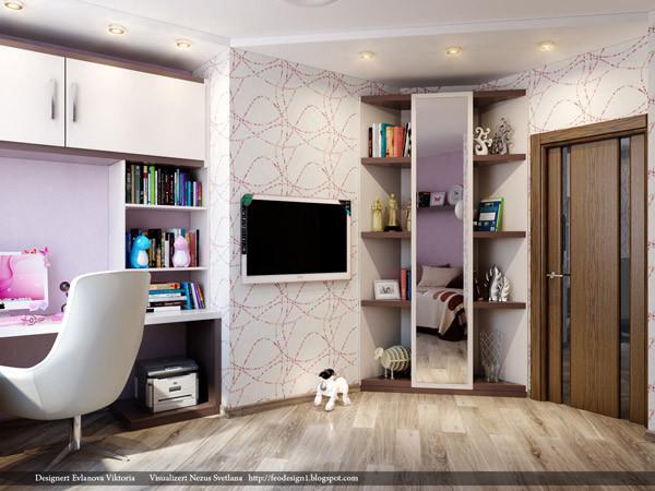 ห้องนอนเด็กสีม่วงสดใส สว่าง ปลอดโปร่ง4.jpg
