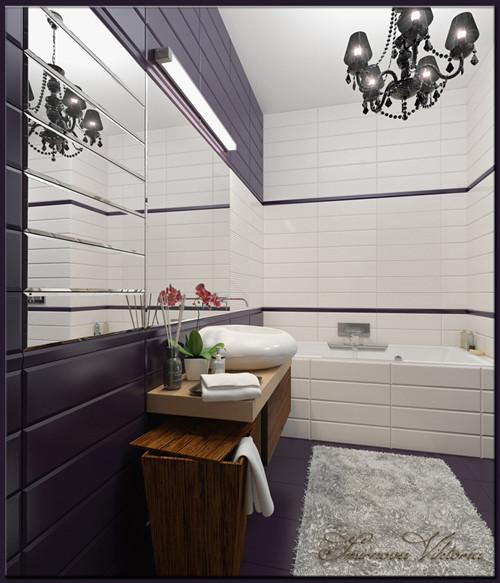 เรียบแต่เก๋ ! ห้องน้ำสีม่วง ขาว สุดชิค4.jpg