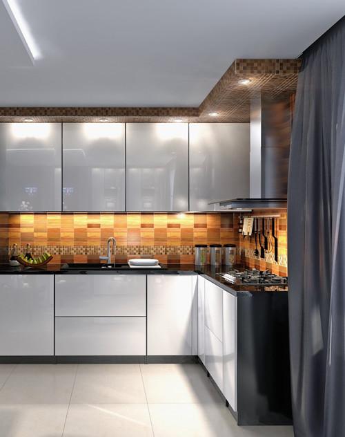 ห้องครัวสีเทา แนวโมเดิร์น ผสมลายไม้4.jpg